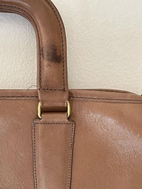 1970s Coach Tan Leather Brief Case Purse// Vintag… - image 6
