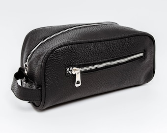 Black Toiletry Wash & Travel Bag- from Benny's of London