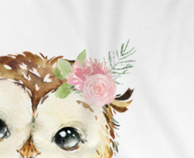 Owl Blanket Unique Baby Gift Baby Blanket Floral Baby Rose Pink Girl Name Baby Blanket Blanket Girl Personalized Baby Girl Blanket