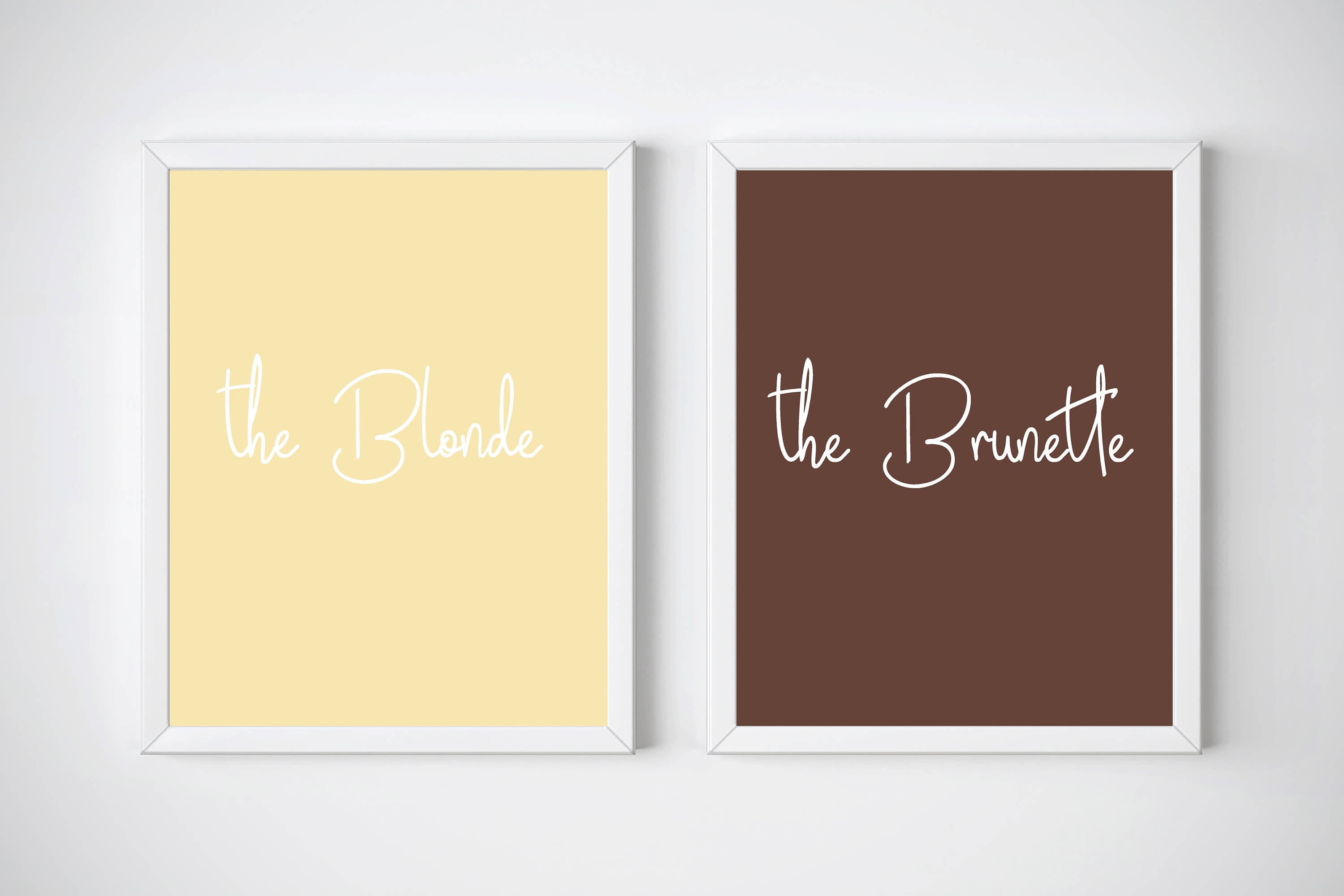 Blonde and Brunette Best Friend Blonde and Brunette Best | Etsy
