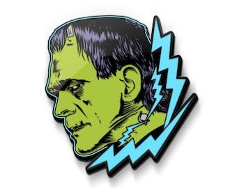 ELECTRIC FRANKENSTEIN Bat Logo Acrylic Pin