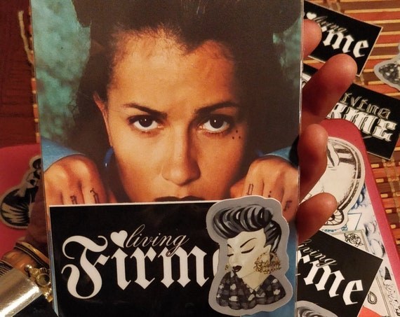 Signed by Sadgirl Mi Vida Loca Postcard and Living Firme Sticker Pack