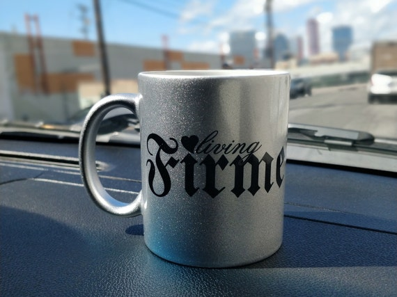 Living Firme Silver Metallic 11oz Coffee Mug