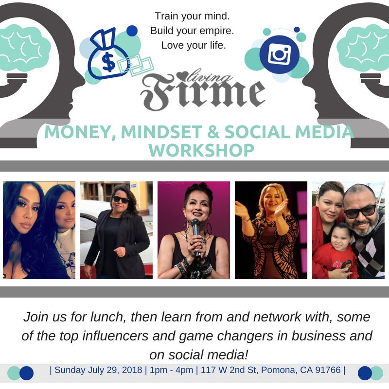Living Firme Money Mindset and Social Media Workshop