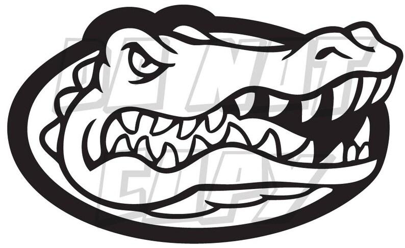 Florida Gators Football Gator Head Vinyl Decal One