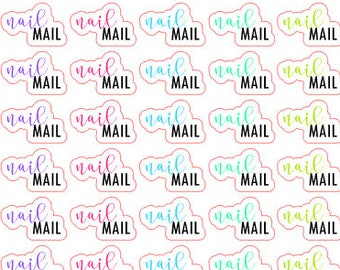 Nail Mail Stickers - Neon