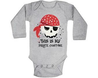 Unique Kids Clothes Fun Baby Romper Little Pirates Unisex Kids Romper Boys Hooded Romper Fun Pirate Playsuit Kids Pirate Romper