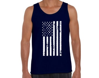 aa287b84 American Flag Tank Top Men's USA Flag Tank American Men's Tank Top America Muscle  Shirts for Men 4th of July Tank Independence Day Gifts