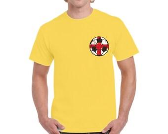 1f141e88e England Soccer Ball Shirt English Flag Men's Shirt Soccer Gifts from England  Men's England Soccer Shirt England 2018 Tshirt English Gifts