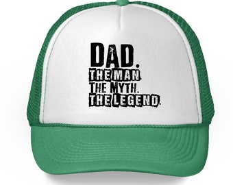 4a4a8f2c6330b Dad The Man The Myth The Legend Hat for Men Father s Day 2018 Hats  Legendary Dad Gifts Top Dad Trucker Hat Best Gifts for Dad Cool Dad Hat
