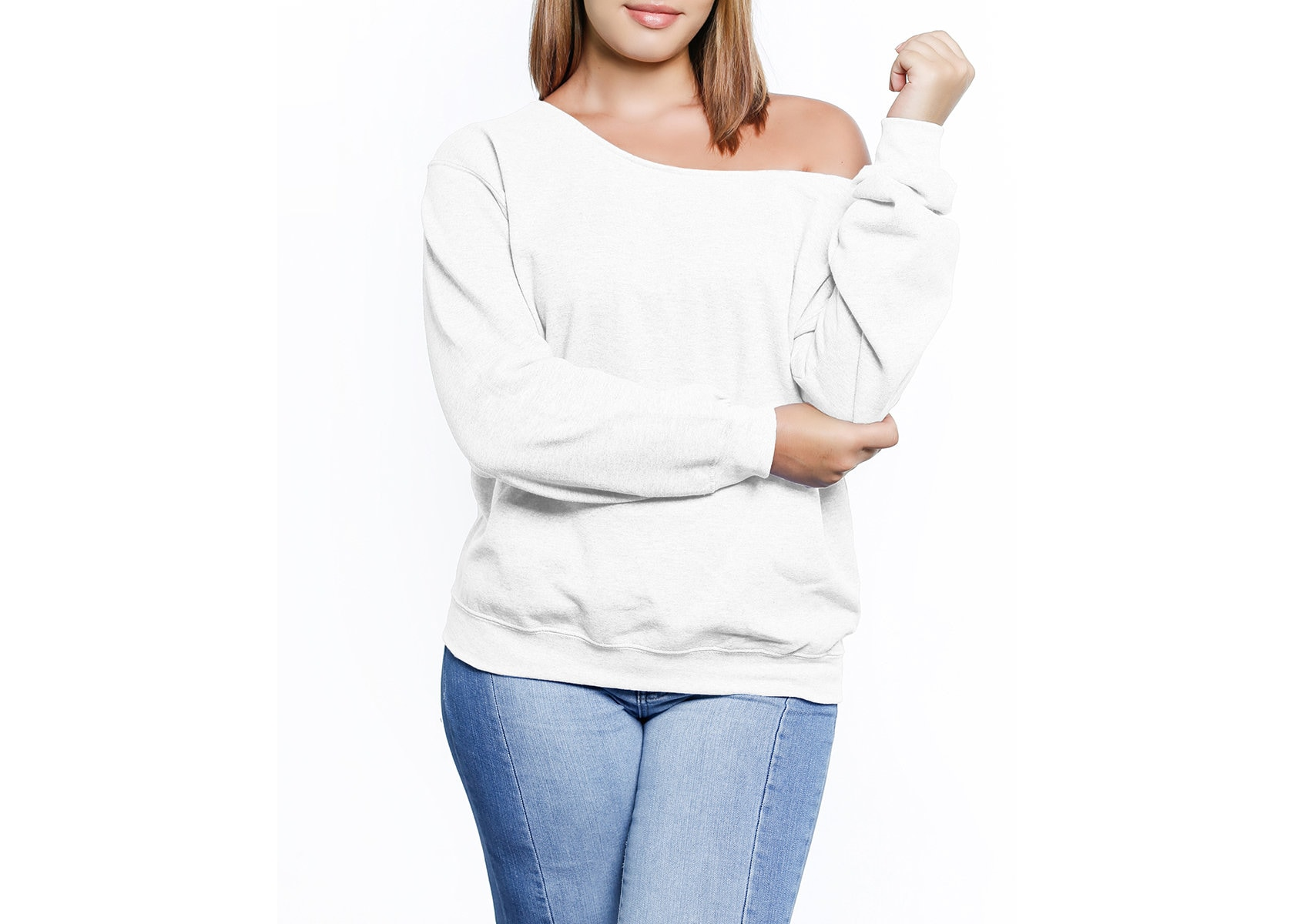 5cf382684b19f Off The Shoulder Sweatshirt for Women. Slouchy Oversized
