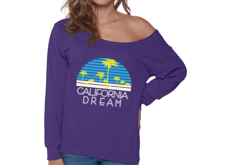 California Sweater for Women California Dream Off Shoulder Sweatshirt