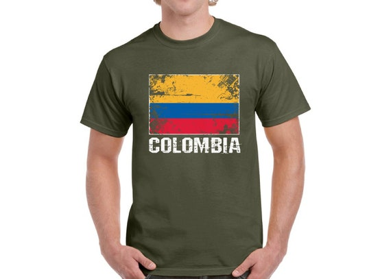 Colombia Shirt for Men Colombia Flag Tshirt Colombian Soccer  1e63dd7e6