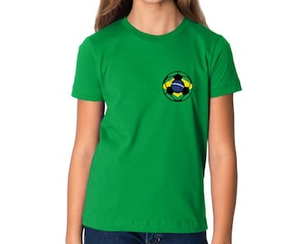 9e63a5d6 Brazil Soccer Ball Youth Shirt Kids Brazil Tshirt Brazil Soccer Shirt for  Boys and Girls Gifts