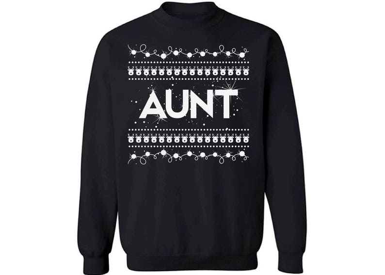 ad8df8688e8 Aunt Sweatshirt Ugly Christmas sweater xmas gifts aunt | Etsy