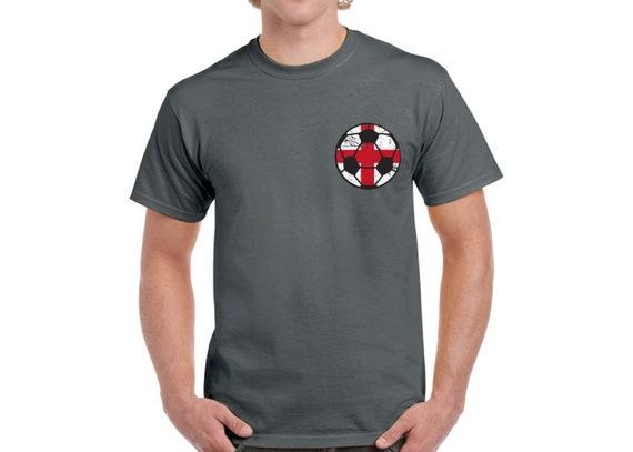 30f1fbfad England Soccer Ball Shirt English Flag Men's Shirt Soccer | Etsy