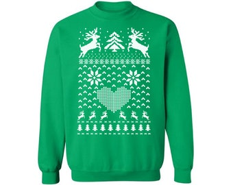 Christmas Deer Sweatshirt Ugly Christmas sweater Ugly Christmas sweater Christmas sweatshirt for men for women Funny Christmas Sweater Party