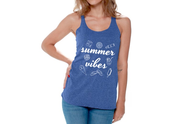 289ce5f662ba Summer Vibes Racerback Tank Top. Women s My Vacation Tank.
