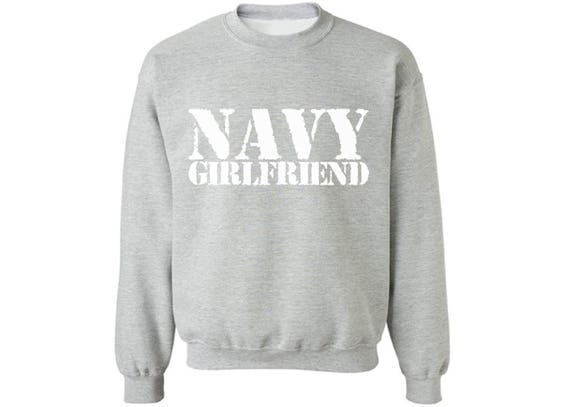 Pekatees Navy Wifey Off Shoulder Sweatshirt Proud Navy Wife Sweatshirt For Women Military Gifts For Wife Valentine Gifts