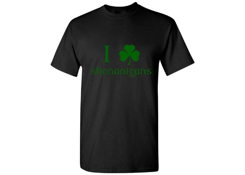 e7eb10947 I Clover Shenanigans Shirt Irish Shenanigans Tshirt for Men | Etsy