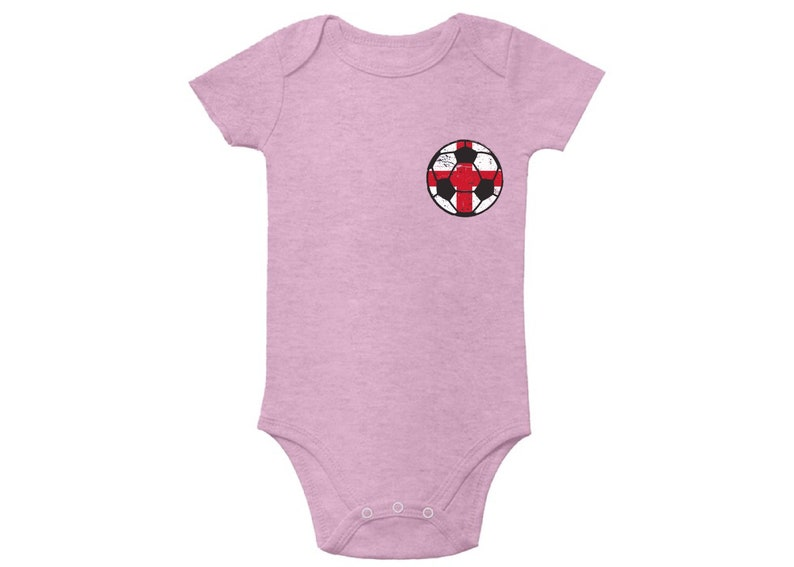 England Soccer Ball Baby Bodysuit Short Sleeve England 2018 One Piece Top for Baby Soccer Gifts for Baby Boy /& Baby Girl England Bodysuit