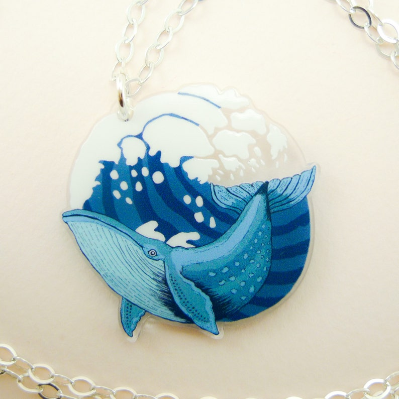 Whale jewelry Whale necklace Whale animal jewelry cool image 0