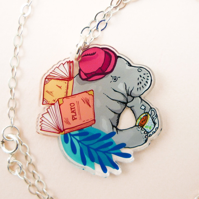 Manatee jewelry Manatee necklace Manatee cute manatee image 0