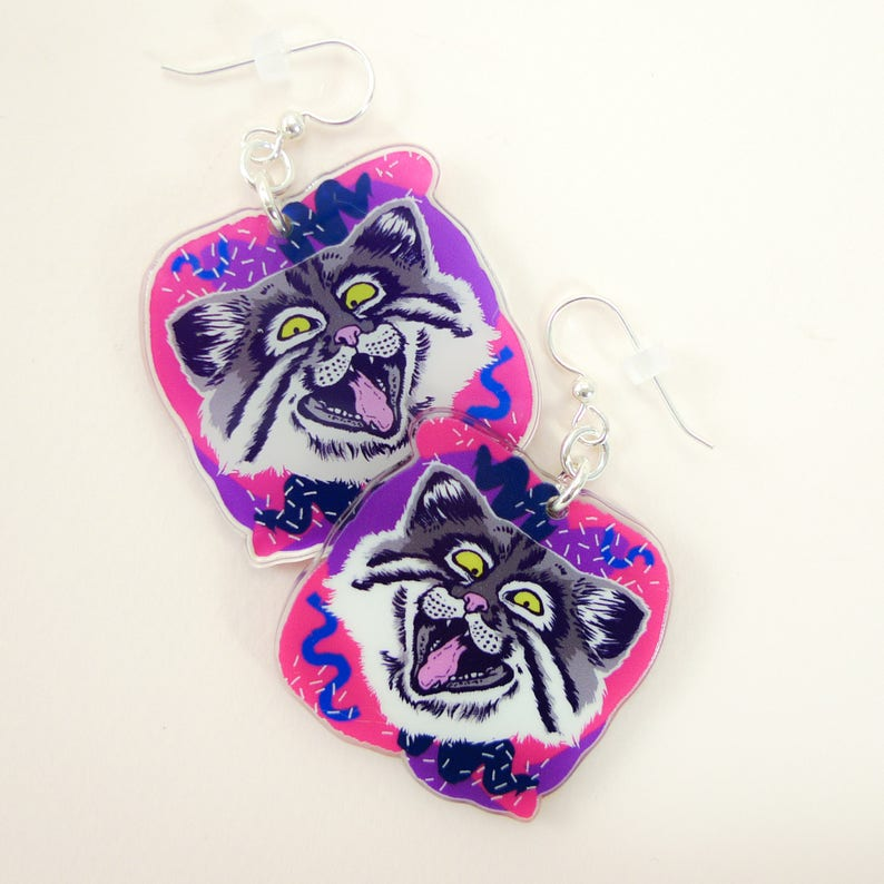 Cat jewelry cat gift cat earrings cute earrings animal image 0