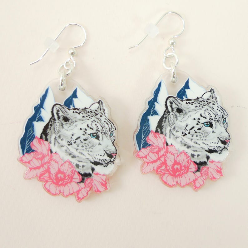 Snow Leopard jewelry Snow Leopard gift Snow Leopard image 0