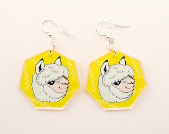 Alpaca jewelry, llama jewelry, llama gift, alpaca earrings, llama earrings, cute llama, animal jewelry, llama gift, alpaca gift