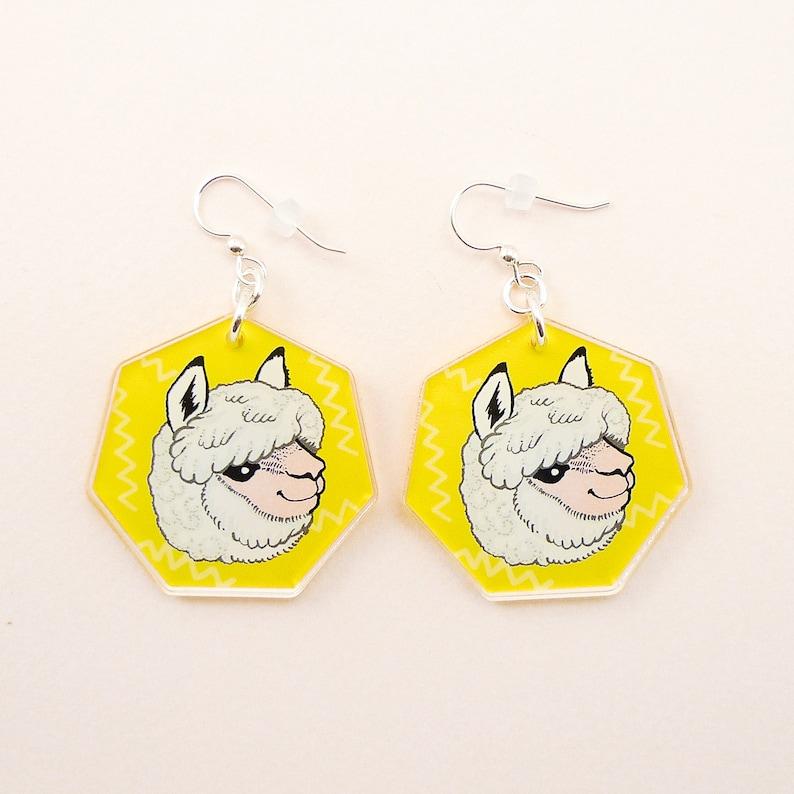 Alpaca jewelry llama jewelry llama gift alpaca earrings image 0