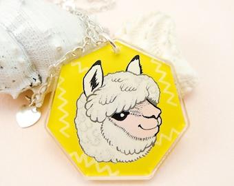 Alpaca jewelry, llama necklace, llama, cute alpaca, cute llama, animal jewelry, llama gift, alpaca gift