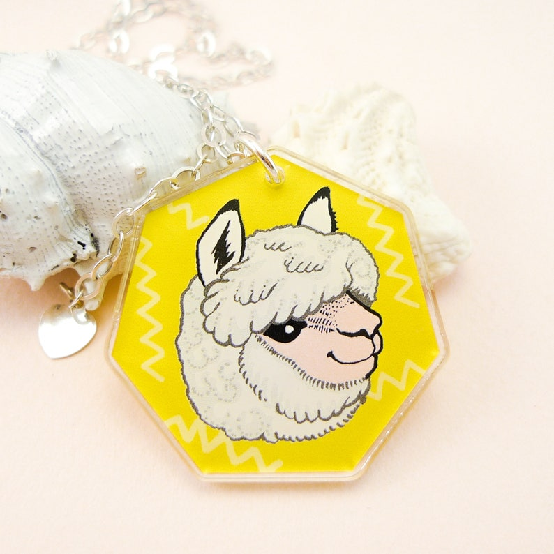 Alpaca jewelry llama necklace llama cute alpaca cute image 0
