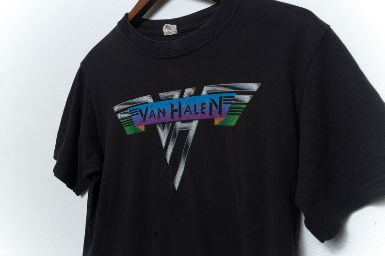 c71b43117 Van Halen Black graphic tee tshirt rocker bank vintage tee | Etsy