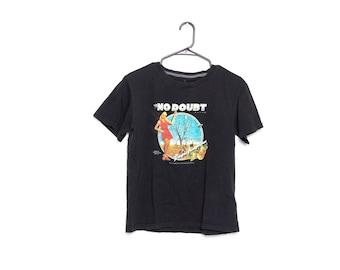 No Doubt Black Vintage tshirt, Illustration Logo Top Rock n Roll, Art Music Graphic Short t-shirt