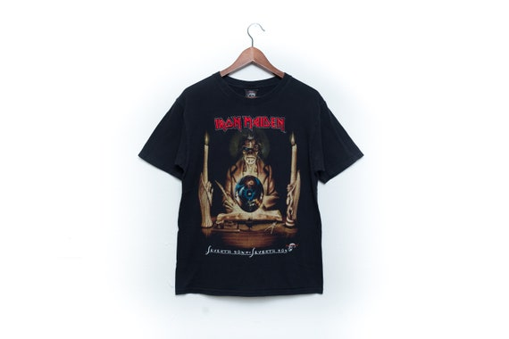 Iron Maiden Black Graphic Concert Tee Illustration