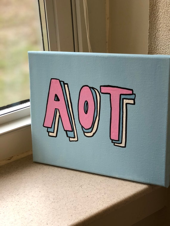 Kappa Delta AOT Sorority Canvas // Blue and Pink // Big Little Gifts // Big  Little Canvas // Gifts for Her // Sorority Crafts // Painting