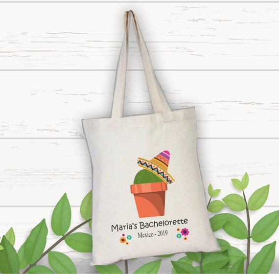 Favor Bag Destination Wedding in Mexico Cancun Custom Backpack Beach Tote Bridesmaid Gift Bachelorette Party Gift Wedding Welcome Bag