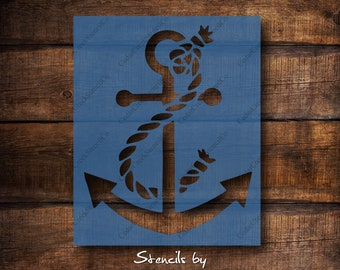 Aw Ship Anchor Stencil Create DIY Aw Ship Anchor Home Decor Reusable Stencils for Painting