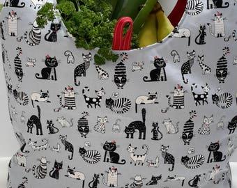 Cat Reusable Shopping Bag, Market Bag, Tote