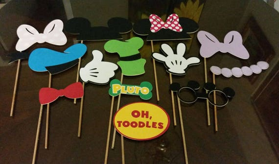 Mickey Mouse Clubhouse Photo Booth Props Mickey Mouse Etsy