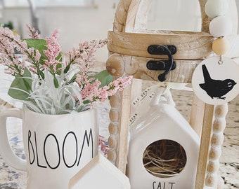 Farmhouse Decor Gifts Bird House DIY Rae Dunn  Inspired BLOOM FLOWERS Birdhouse  Water Slide Decal