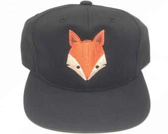 Kids Fox Trucker Flat Brim Hat