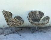 Swan Chairs by Arne Jacobsen for Fritz Hansen Mid Century Modern