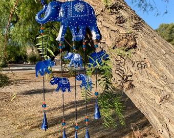lamta1k Wind Chime,Heart Elephant Dream Catcher Metal Wind Chime Pendant Home Yard Garden Decor Elephant #