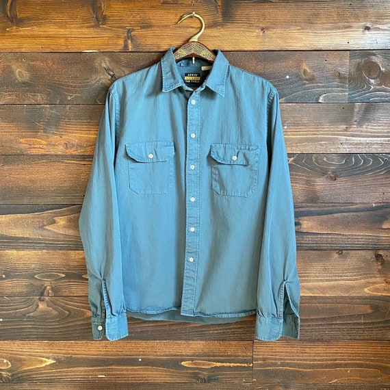 50s men's levis tan twills button down | vintage w