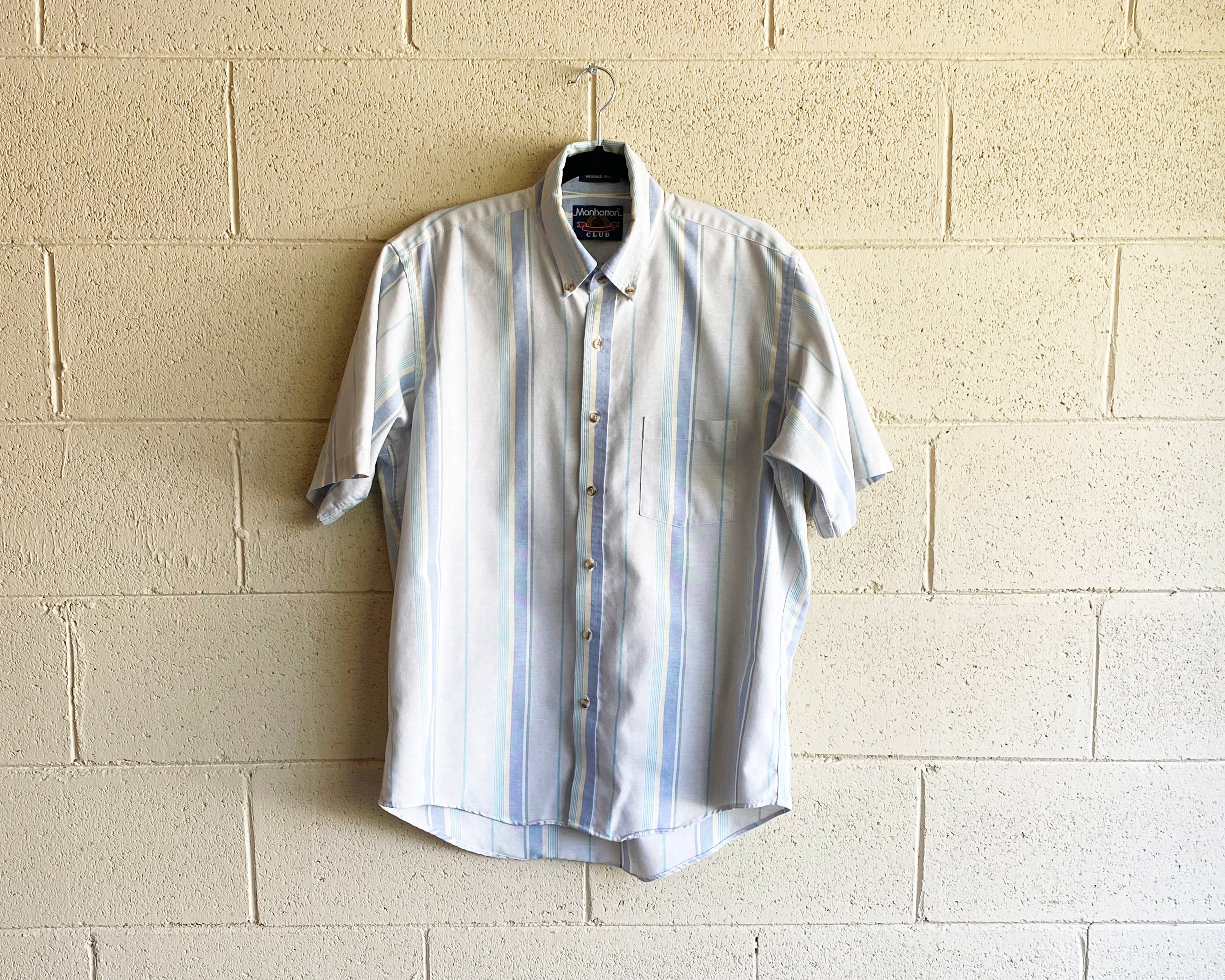 1970s Mens Shirt Styles – Vintage 70s Shirts for Guys 80S Mens Button Down  Vintage Short Sleeve Shirt 1970S Summer Clothing $5.00 AT vintagedancer.com