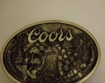 1970's Vintage Coors Belt Buckle with Bottle Opener