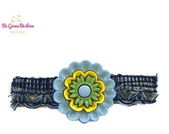 Baby Blue Flower Barrette, Flower Girl, Flower, Floral, Baby Shower Gift, Baby Headband, Hair Bows, Hair Clip, Barrette, Hair Vine, Bow