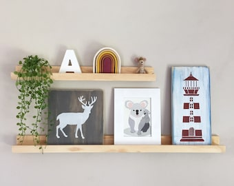 Picture Ledges - Wood Picture Ledge - Timber Floating Shelf - Wooden Picture Ledge - Ledge Shelf - Gallery Wall - Wood Floating Shelf
